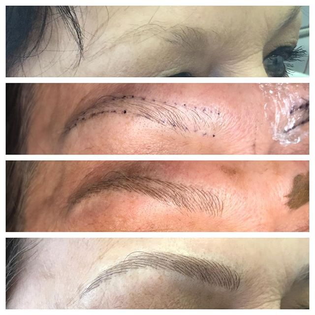 Brow Mapping and Shaping Before and After - 3D BROWS ACADEMY, Utah