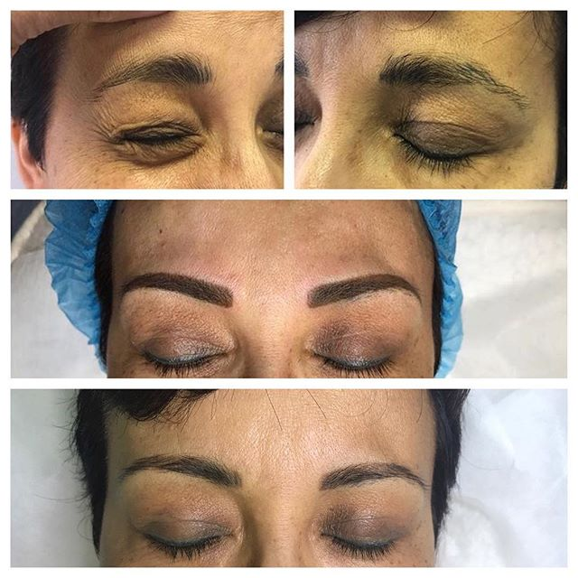 Microblading Before and After - 3D BROWS ACADEMY, Utah