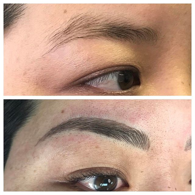 3D Microblading Eyebrows Before and After - 3D BROWS ACADEMY, Utah
