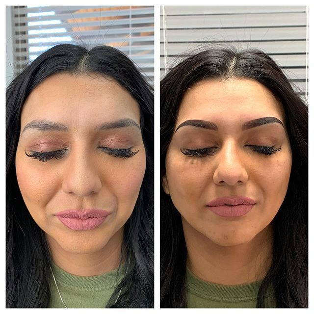 Microbladed Brows Before and After - 3D BROWS ACADEMY, Utah