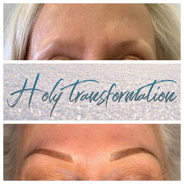 Eyebrow Blading Before and After - 3D BROWS ACADEMY, Utah