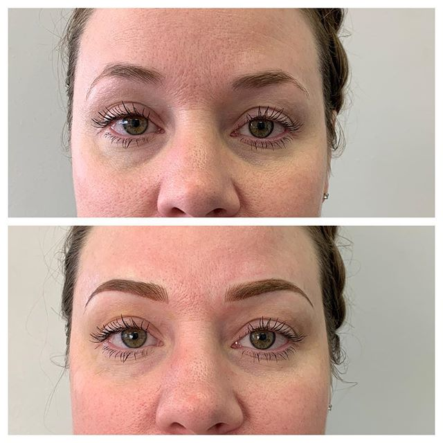Microblading Eyebrows Before and After - 3D BROWS ACADEMY, Utah
