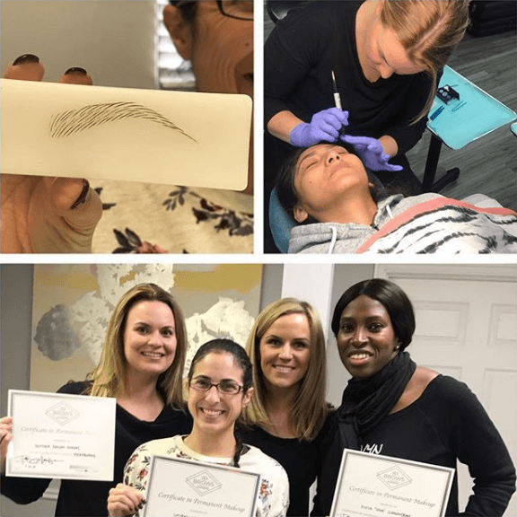 Students Receive Microblading Certification from 3D Brows Academy