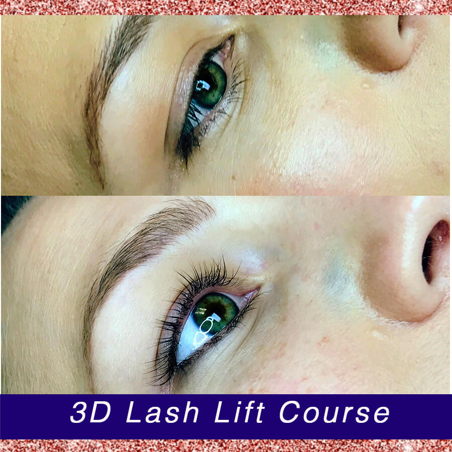 Lash Lift Before and After Photos from 3D Brows Academy